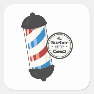 Le salon de coiffure autocollant carré