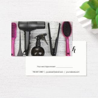 Le salon usine le carte de visite rose et noir de