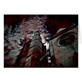 Le sang a éclaboussé la cathédrale cartes de vœux