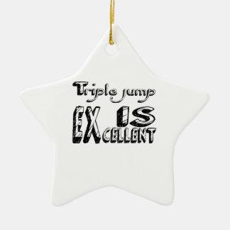 Le saut triple est excellent ornement étoile en céramique