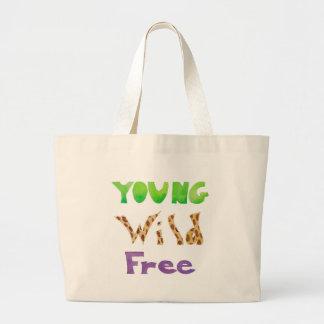 Le ~ sauvage de jeune ~ libèrent grand sac