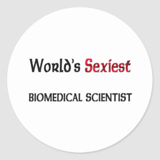 Le savant en biomédecine le plus sexy du monde sticker rond