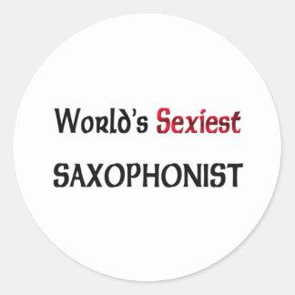 Le saxophoniste le plus sexy du monde adhésif rond