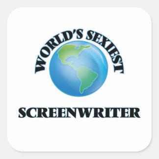 Le scénariste le plus sexy du monde stickers carrés
