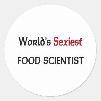 Le scientifique de la nourriture le plus sexy du m autocollant rond