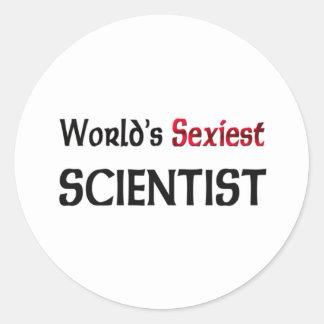 Le scientifique le plus sexy du monde autocollant rond