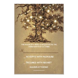 Le scintillement allume la carte l'épousant carton d'invitation 8,89 cm x 12,70 cm
