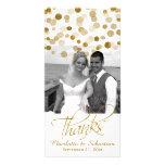 Le scintillement d'or de Faux de mariage pointille Photocarte Personnalisée
