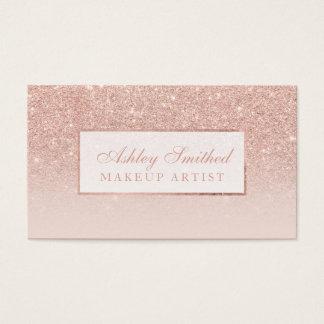 Le scintillement rose d'or de faux moderne cartes de visite