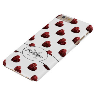 Le scintillement rouge miroite l'iPhone 6 de Coque Barely There iPhone 6 Plus