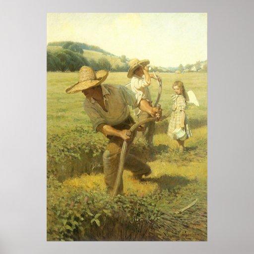 Le Scythers (de nouveau à la ferme) par OR Wyeth Poster