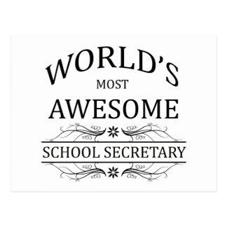 Le secrétaire de l'école le plus impressionnant du carte postale