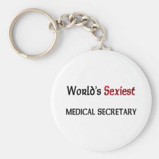 Le secrétaire médical le plus sexy du monde porte-clé rond