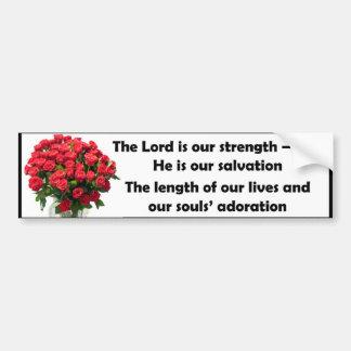 Le seigneur est notre force autocollant pour voiture