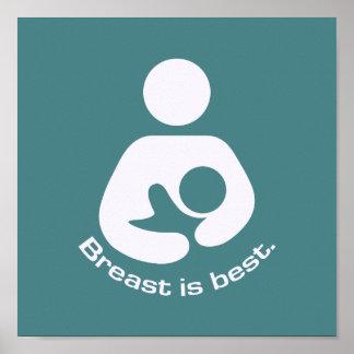Le sein est la meilleure icône - Teal Posters