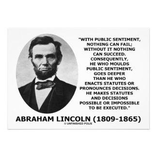 Le sentiment public rien peut échouer la citation invitation