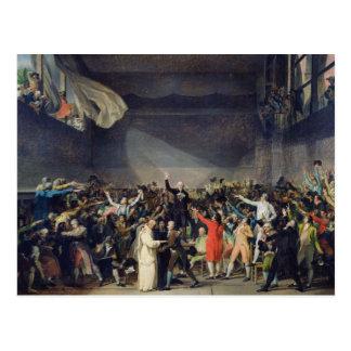 Le serment de court de tennis, le 20 juin 1789, carte postale