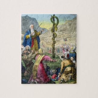 Le serpent d'airain, d'une bible imprimée par Edou Puzzle