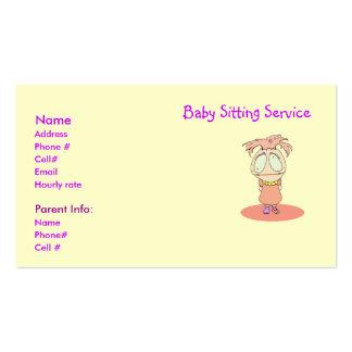 Le service se reposant de bébé carde l'exploit Lil Cartes De Visite Personnelles
