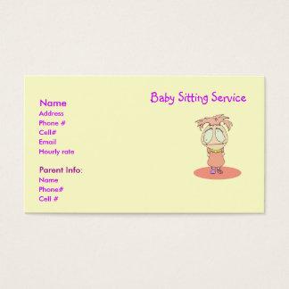 Le service se reposant de bébé carde l'exploit Lil Cartes De Visite