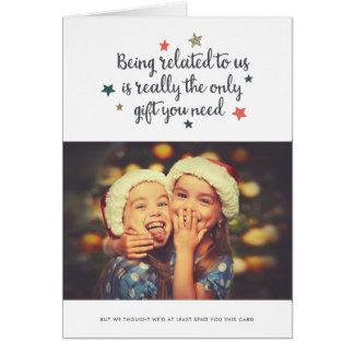 Le seul cadeau vous avez besoin de la carte de