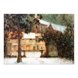 Le Sidaner : Chambre dans la neige Carton D'invitation 12,7 Cm X 17,78 Cm