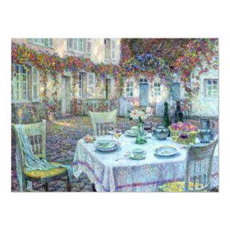 Le Sidaner : Tableau avec des roses chez Gerberoy Carton D'invitation 16,51 Cm X 22,22 Cm