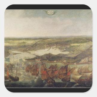 Le siège de La Rochelle en 1628 Sticker Carré