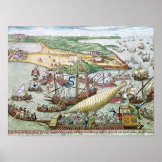 Le siège de Tunis ou de La Goulette par Charles V Posters