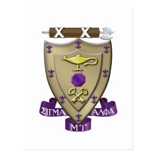 Le sigma alpha MU Crest Carte Postale