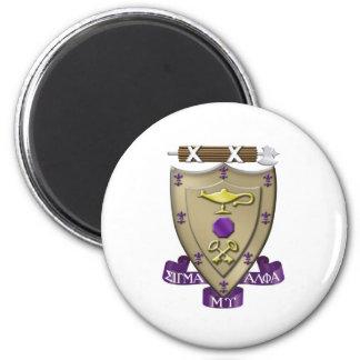 Le sigma alpha MU Crest Magnet Rond 8 Cm