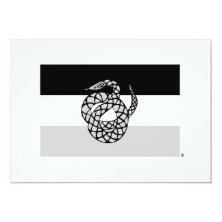 Le sigma NU marquent le gris Carton D'invitation 12,7 Cm X 17,78 Cm