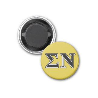 Le sigma NU noircissent Magnet Carré 2,50 Cm