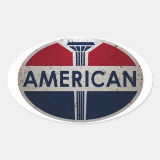 Le signe américain de viontage de station service autocollants ovales