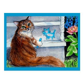 Le signe de clochard de chat, dame aimable vit ici