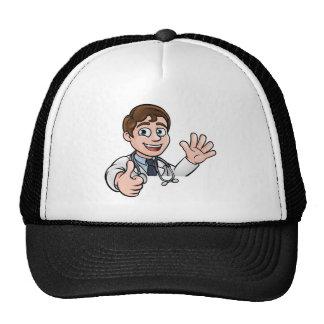 Le signe de docteur personnage de dessin animé casquette