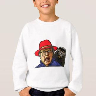 Le singe de babouin effraye le vieil homme anglais sweatshirt