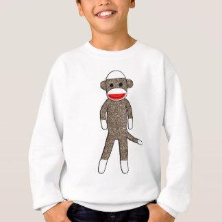 Le singe de chaussette badine le sweatshirt