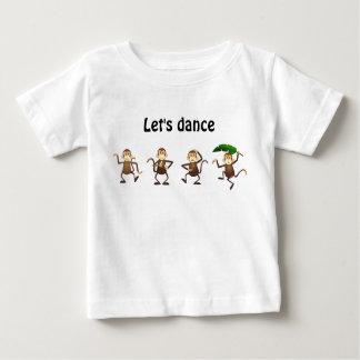 Le singe de danse, nous a laissés danser t-shirt pour bébé