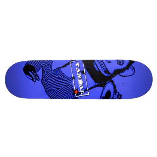 Le singe de planche à roulettes de VANDAL★ brille  Skateoard Personnalisé