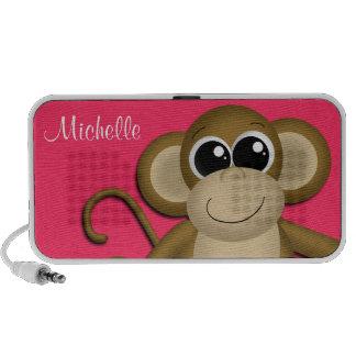 Le singe mignon a personnalisé le haut-parleur de