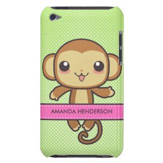 Le singe mignon de Kawaii a personnalisé la caisse Coque iPod Case-Mate