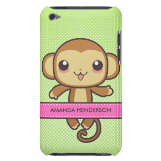 Le singe mignon de Kawaii a personnalisé la caisse Coques iPod Touch
