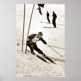Le ski de emballage de slalom de ski folâtre le sk affiches