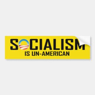 Le socialisme est peu américain autocollant pour voiture