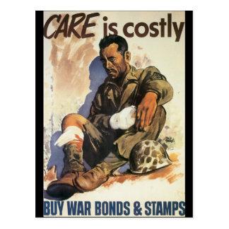 Le soin est la guerre mondiale coûteuse 2 cartes postales
