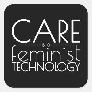 Le soin est une technologie féministe sticker carré