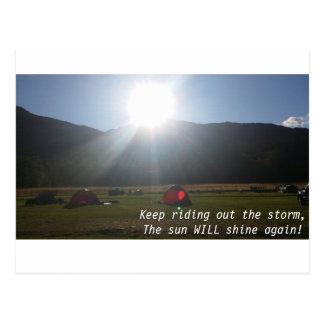 Le soleil brillera la carte postale