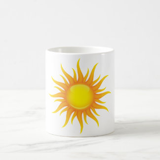 Le soleil flamboyant mug blanc