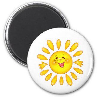 le soleil heureux magnet rond 8 cm